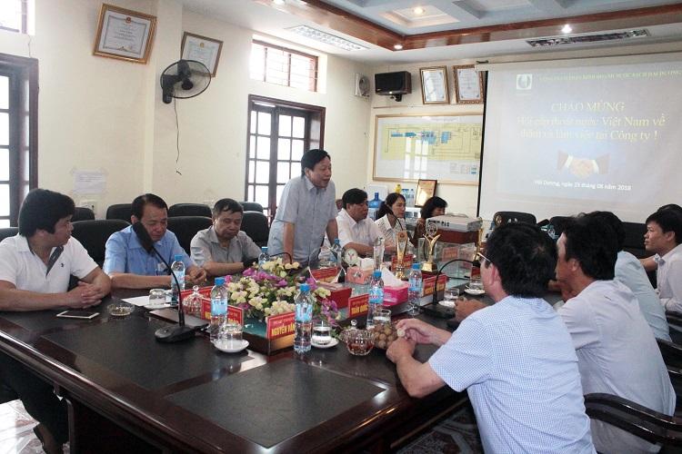 1322/Hội Cấp thoát nước Việt Nam thăm và làm việc tại Công ty Cổ phần kinh doanh nước sạch Hải Dương