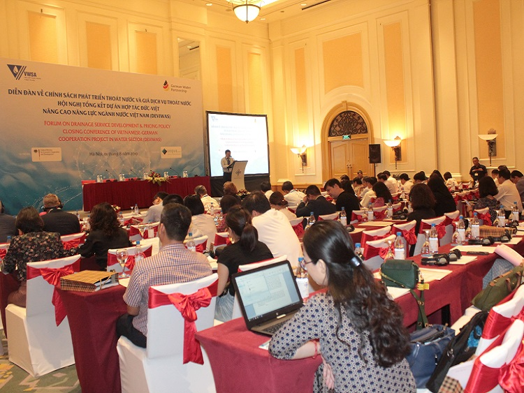 Closing conference of Vietnamese-German Cooperation Project on Capacity building for Water sector in Viet Nam (DEVIWAS)