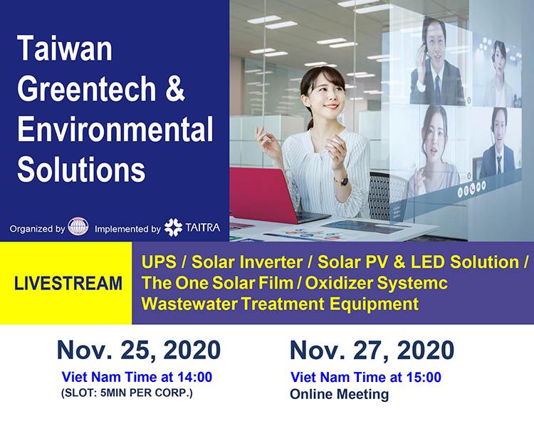LIVESTREAM Giải pháp môi trường và Thiết bị Công nghệ xanh Đài Loan