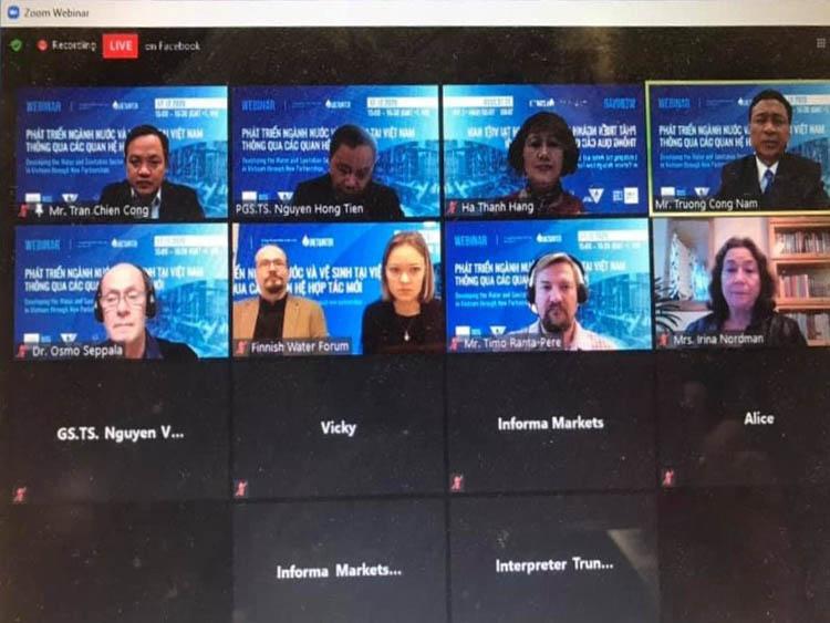 2233/Hội thảo trực tuyến Tổng kết Dự án giữa Hội Cấp thoát nước Việt Nam và Diễn đàn ngành nước Phần Lan
