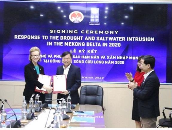 1839/UNDP hỗ trợ Đồng bằng sông Cửu Long 185.000 USD ứng phó hạn mặn