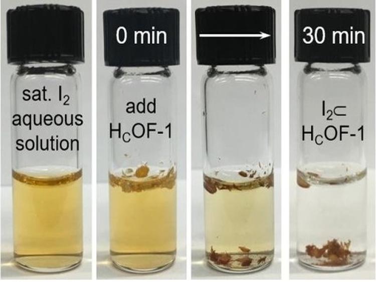 938/Vật liệu mới để loại bỏ iốt từ nước ngay trong lần đầu tiên
