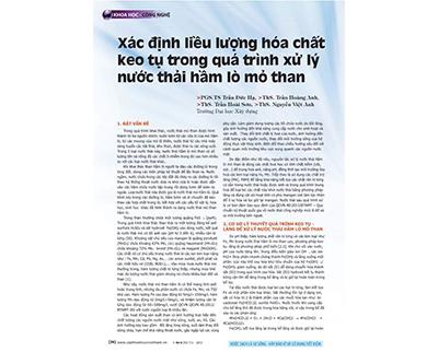 236/Xác định liều lượng hóa chất keo tụ trong quá trình xử lý nước thải hầm lò mở than