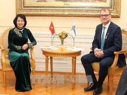 1125/Phó Chủ tịch nước Đặng Thị Ngọc Thịnh thăm và làm việc tại Phần Lan