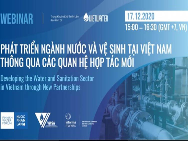 Hội thảo trực tuyến Tổng kết Dự án giữa Hội Cấp thoát nước Việt Nam và Diễn đàn ngành nước Phần Lan
