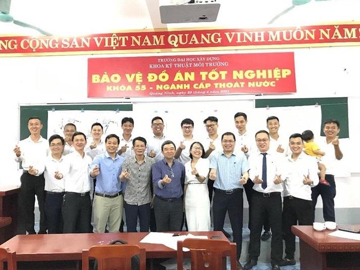 Lớp kỹ sư Cấp thoát nước bằng 2 tại Quảng Ninh bảo vệ thành công đồ án tốt nghiệp