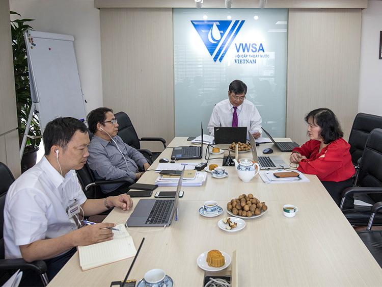 2347/Hội Cấp thoát nước Việt Nam cùng các đơn vị liên quan họp chuẩn bị cho Tuần lễ ngành Nước Việt - Úc 2021