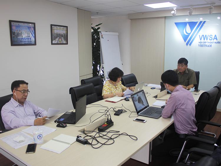 2322/Hội Cấp thoát nước Việt Nam họp trực tuyến với Hội Nước Úc