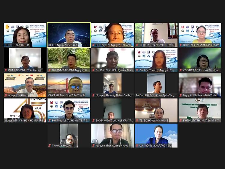 Họp trực tuyến mạng lưới đào tạo ngành Nước Việt Nam