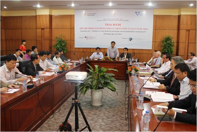 Conference on competence development in sewerage management and wastewater treatment in Hai Phong
