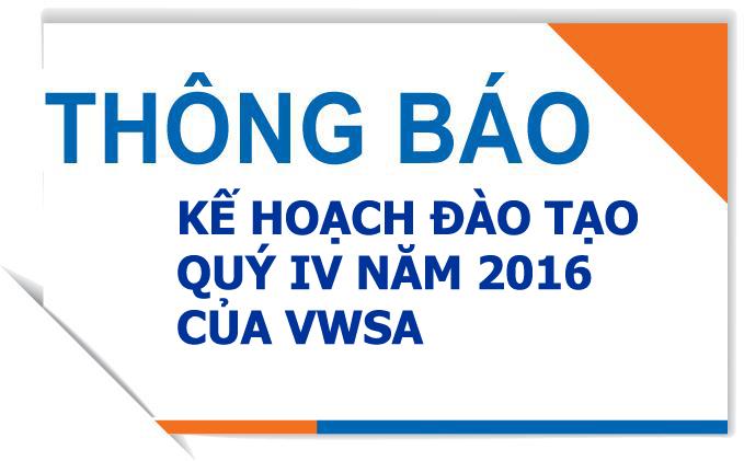 852/Kế hoạch đào tạo của Hội Cấp thoát nước Việt Nam Quý IV/2016