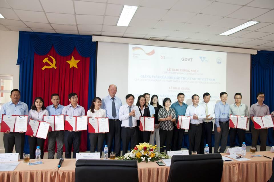 VWSA vừa được bổ sung thêm 11 giảng viên kỹ thuật xử lý nước thải