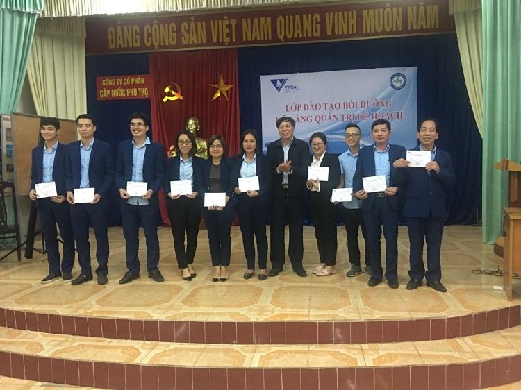 50 cán bộ Công ty Cấp nước Phú Thọ tham gia tập huấn Kỹ năng Quản trị kế hoạch