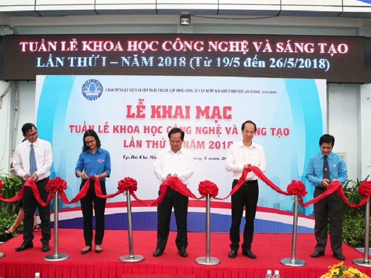 Sawaco Khai mạc tuần lễ khoa học công nghệ và sáng tạo ngành cấp nước lần 1 năm 2018