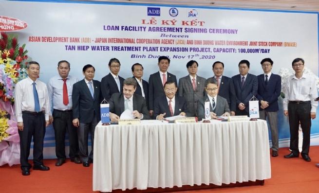 BIWASE nhận khoản vay 16 triệu USD từ ADB và JICA để mở rộng nhà máy nước Tân Hiệp-2