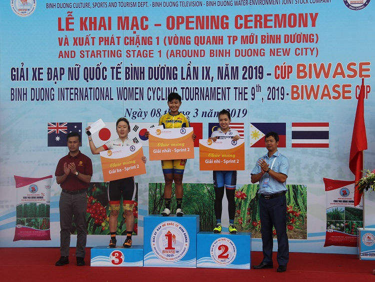 1525/Khai mạc và Kết quả Chặng 1 Giải xe đạp nữ Quốc tế Bình Dương tranh cúp BIWASE - 2019