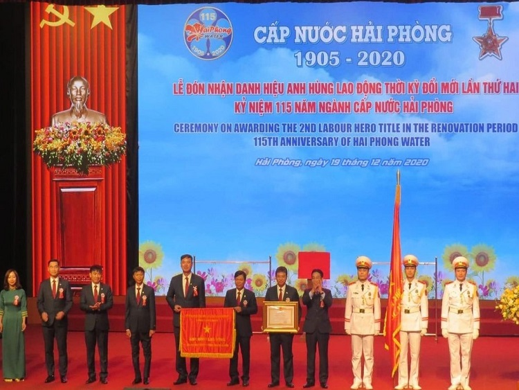 """2235/Cấp nước Hải Phòng: Kỷ niệm 115 năm thành lập, đón nhận Danh hiệu """"Anh hùng lao động"""" thời kỳ đổi mới lần II"""