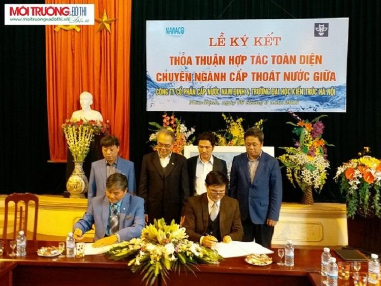 ĐH Kiến trúc và CTCP cấp nước Nam Định hợp tác toàn diện ngành nước