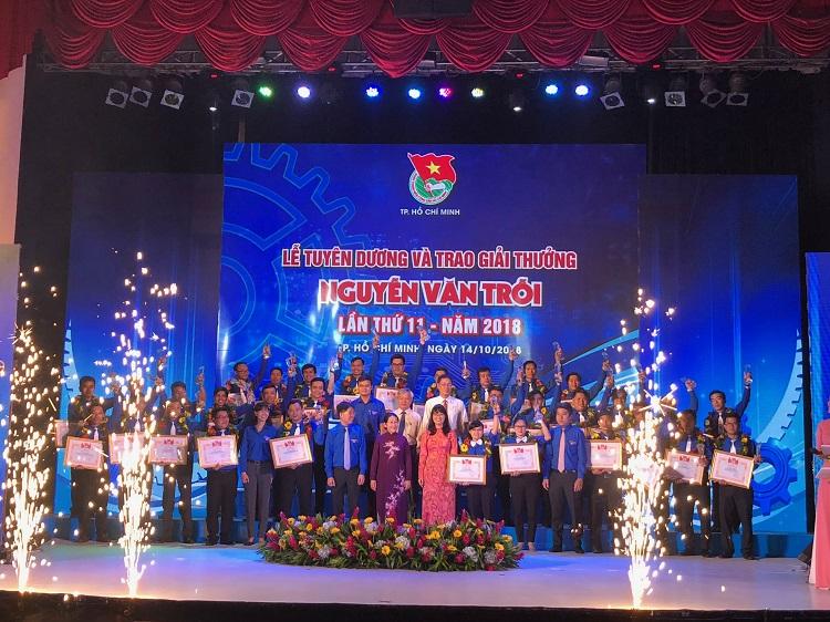 Công nhân Sawaco vinh dự nhận giải thưởng Nguyễn Văn Trỗi lần thứ 11 - năm 2018