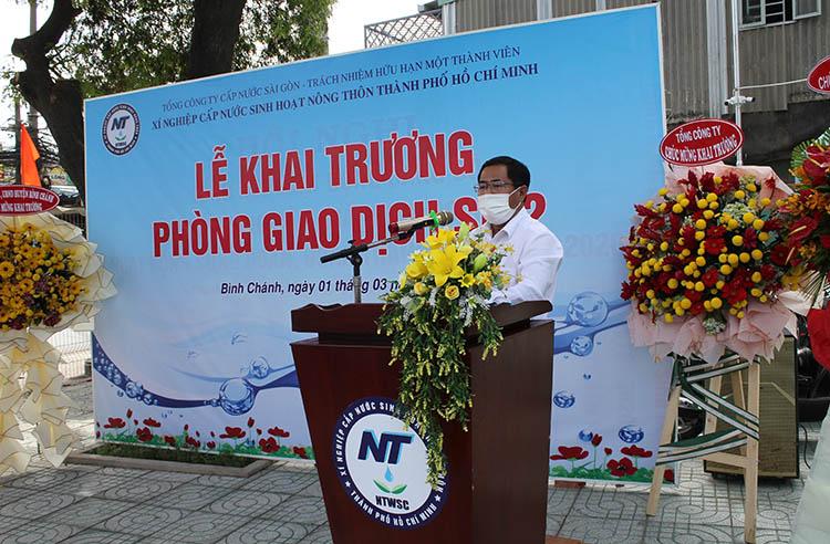 Sawaco Khai trương Phòng Giao dịch Số 2, xã Vĩnh Lộc A, huyện Bình Chánh
