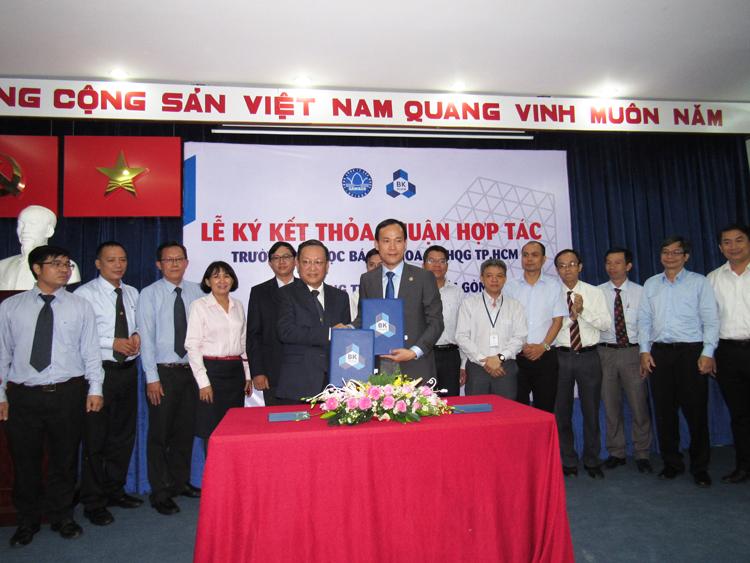 1475/Sawaco ký kết thỏa thuận hợp tác với trường Đại học Bách Khoa TPHCM