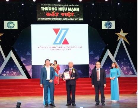 1582/Ống gang cầu XINXING nhận giải thưởng Thương hiệu mạnh Đất Việt 2019