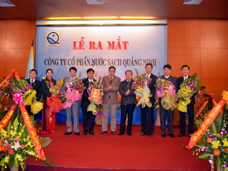 Ra mắt Công ty CP Nước sạch Quảng Ninh