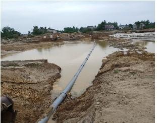 1604/Thành công dự án lắp đặt ống gang cầu chìm vượt sông