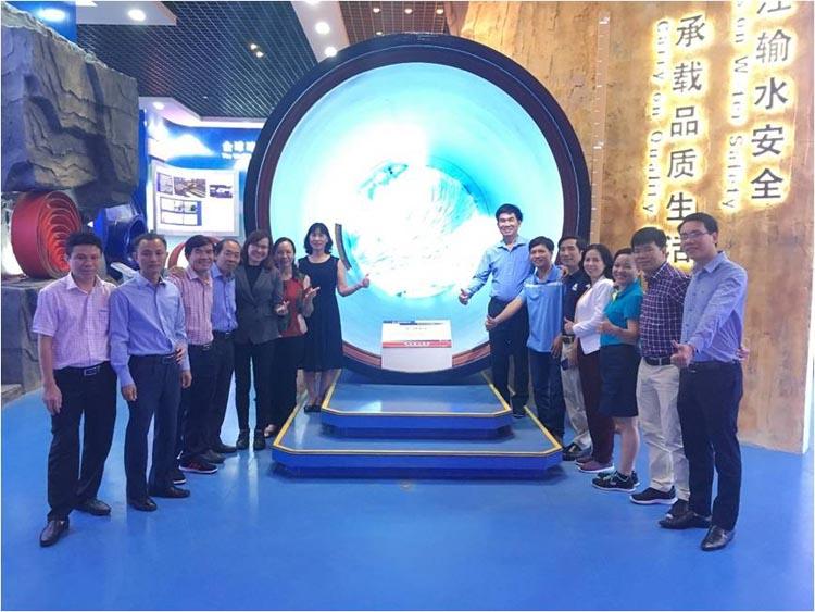 1157/Đoàn đại biểu Công ty cấp nước Việt Nam sang thăm quan  nhà máy Xinxing