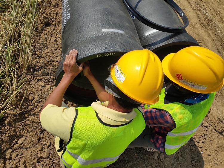 1514/Xinxing hướng dẫn lắp đặt thi công ống gang cầu tại Chiang Mai Thái Lan