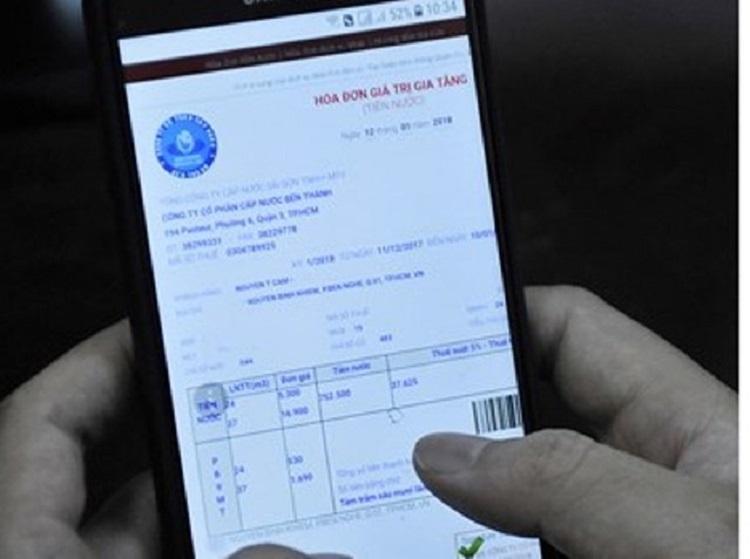 1221/TP.HCM: Thanh toán tiền nước bằng hóa đơn điện tử
