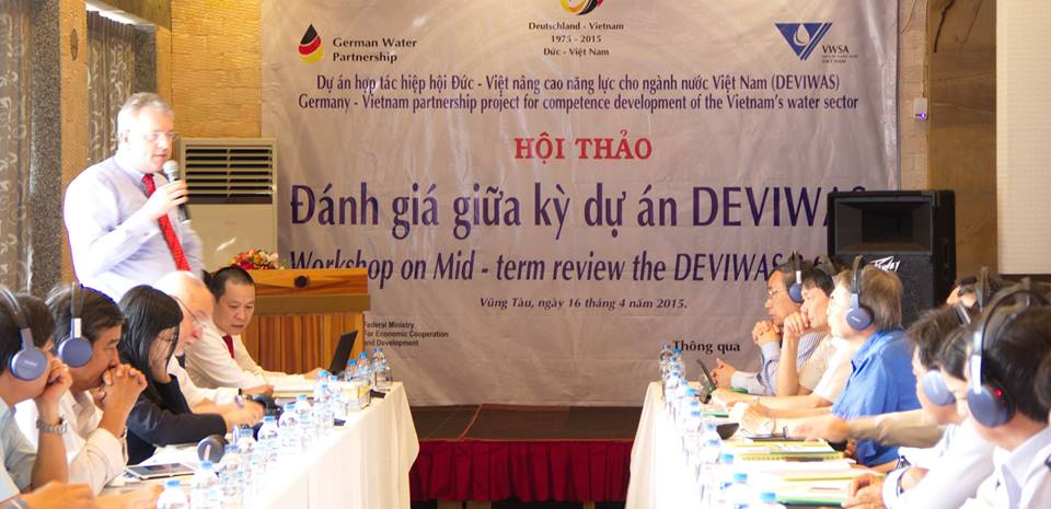 587/Lãnh đạo cao cấp của GWP và VWSA gặp nhau ở Vũng Tàu trong sự kiện Đánh giá giữa kỳ dự án DEVIWAS