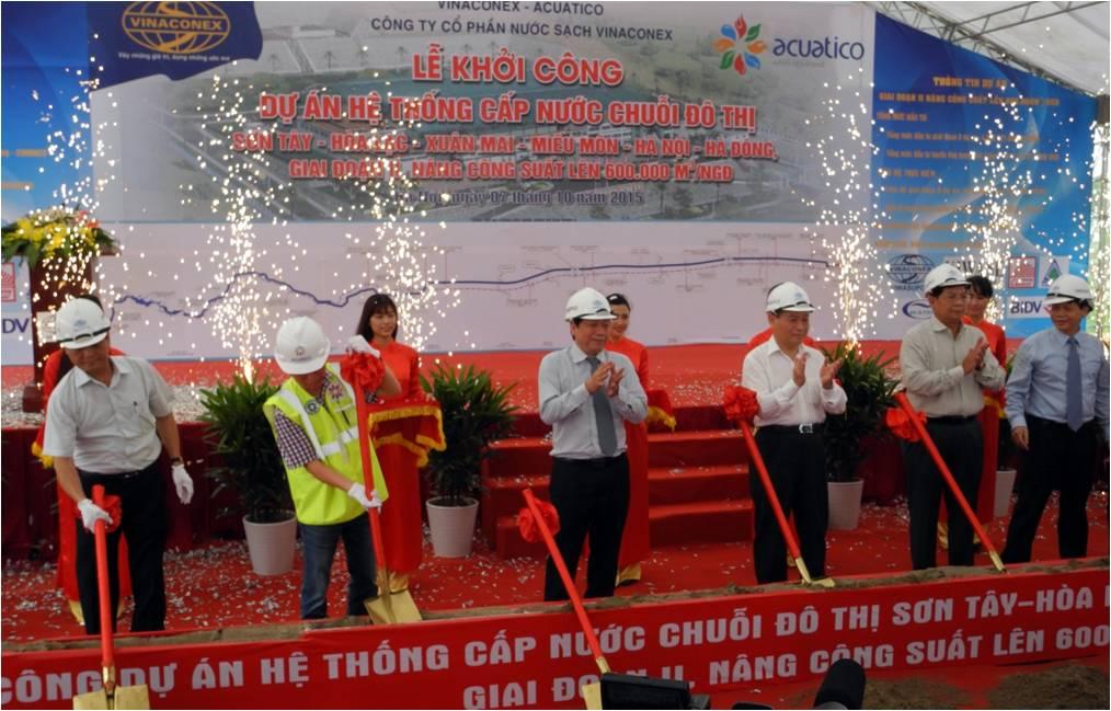 606/Hà Nội: Khởi công dự án Hệ thống chuỗi cấp nước đô thị