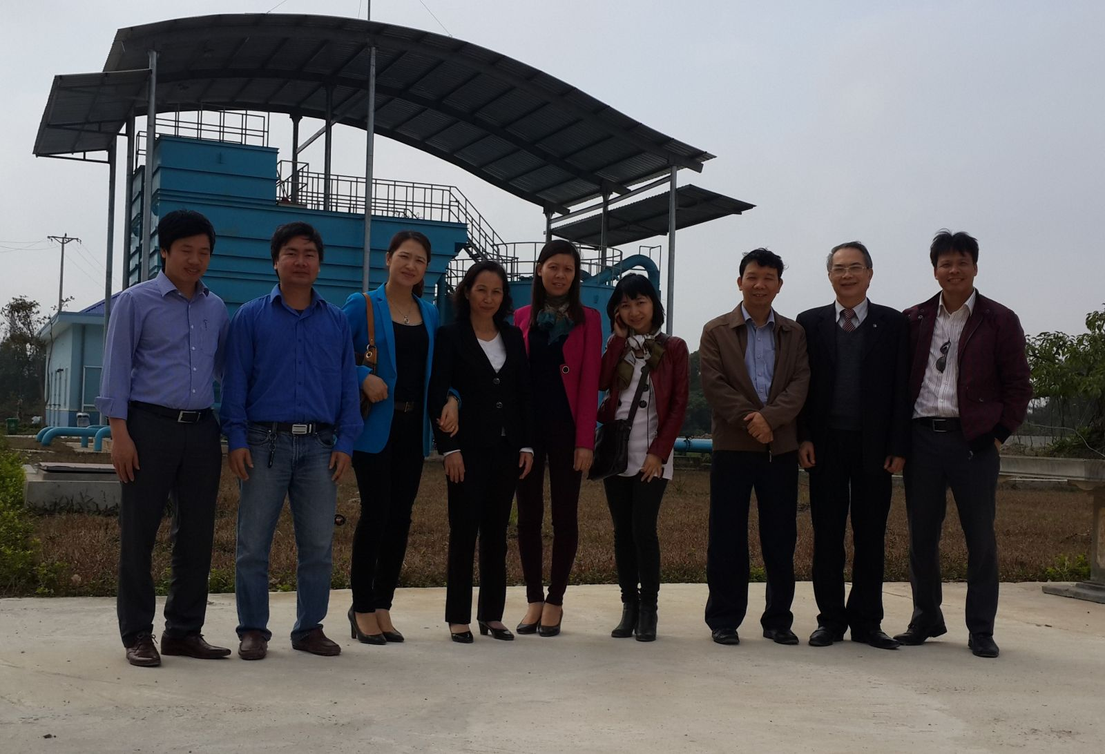 714/VWSA and the DEVIWAS project visit Bac Ninh Water Supply and Sewerage Co, Ltd