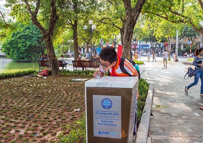 Hà Nội: Hoàn thiện thêm 4 trụ nước uống sạch tại vòi miễn phí quanh khu vực Hồ Gươm