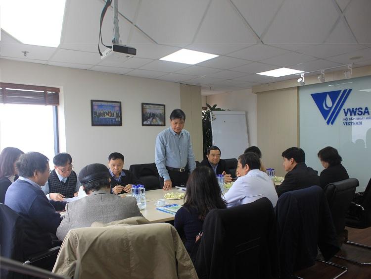 2237/Hội Cấp thoát nước Việt Nam tiếp và làm việc với Tổng hội Xây dựng Việt Nam