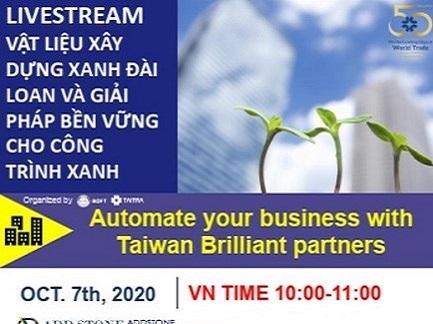 Livestream giới thiệu sản phẩm Vật liệu xanh Đài Loan tiềm năng