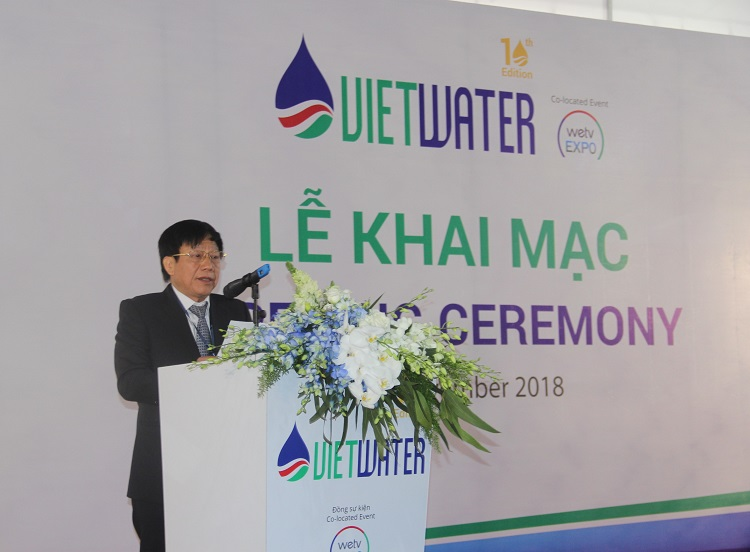 Khai mạc Vietwater 2018: 10 năm đồng hành cùng ngành nước Việt Nam