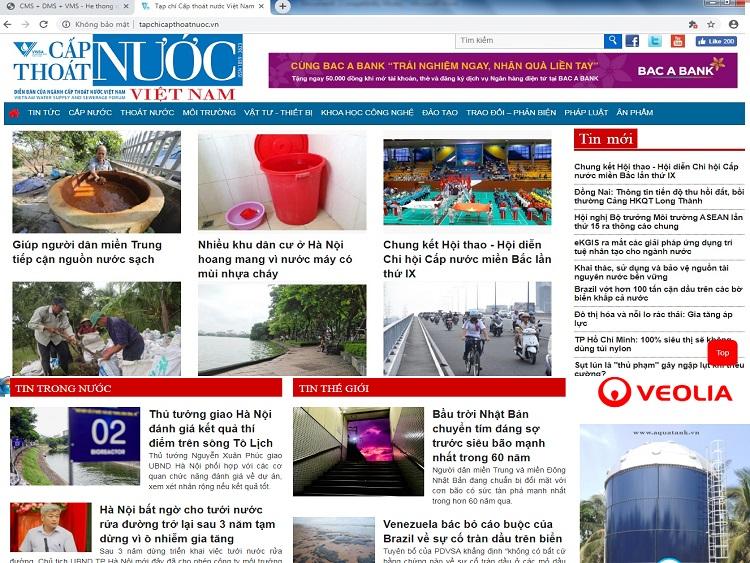 Tạp chí Cấp thoát nước online ra mắt giao diện mới