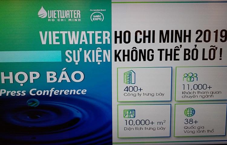 1704/VIETWATER 2019 sắp diễn ra tại TP. Hồ Chí Minh với nhiều công nghệ xử lý nước mới