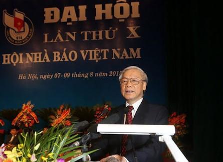 1913/Thư của Tổng Bí thư, Chủ tịch nước chúc mừng 70 năm thành lập Hội Nhà báo Việt Nam
