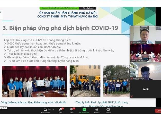 Hơn 100 đại biểu tham dự Hội thảo quốc tế trực tuyến về ứng phó và phục hồi sau đại dịch COVID-19 đối với ngành nước