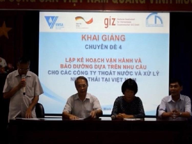GIZ và VWSA tổ chức Chuyên đề 4: Lập kế hoạch Vận hành và Bảo dưỡng
