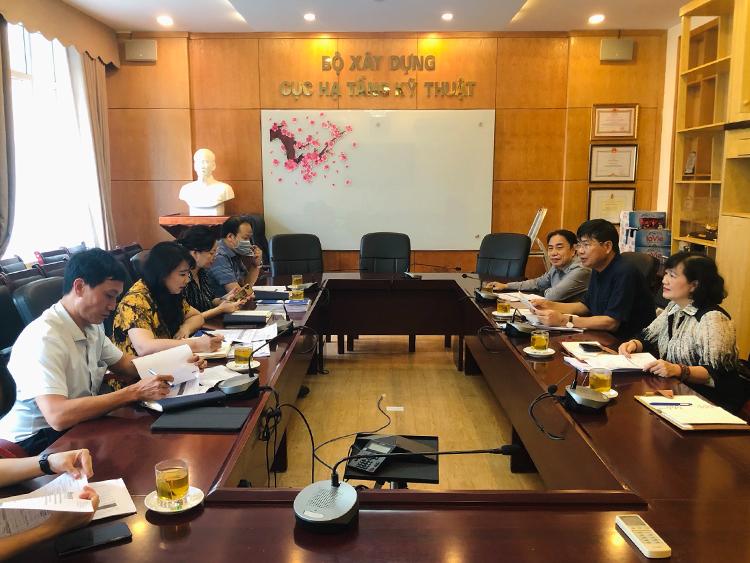 Hội Cấp thoát nước Việt Nam làm việc với Cục Hạ tầng Kỹ thuật - Bộ Xây dựng